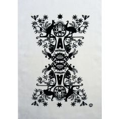 Aussie coat of arms tea towel