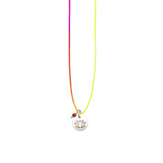 Neon lotus necklace