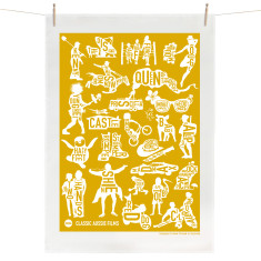 Classic Aussie Films tea towel