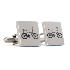 Old school bike cufflinks