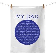 My dad personalised tea towel