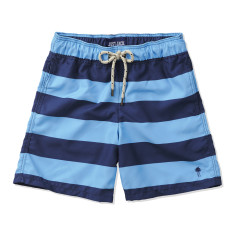 Boys Board shorts in Navy & Blue Stripes
