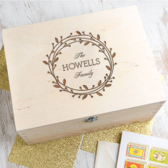 Personalised Wreath Keepsake Box