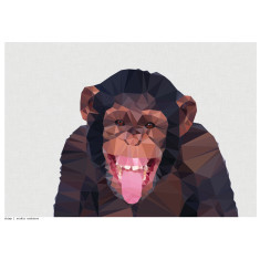 Geometric chimp art print