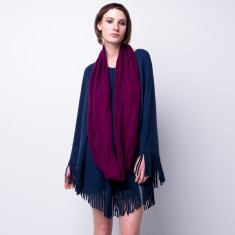 Cashmere blend burgundy infinity scarf