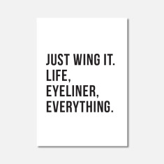 Just Wing It Mini Art Print