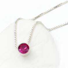 Ruby Necklace July Birthstone