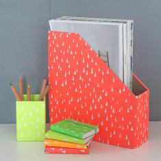 Recycled Fluoro Brights Desk Tidy Set