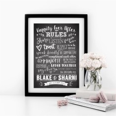 Happily Ever After Personalised Rules Print