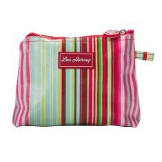 Small Cosmetic Bag in Selma Stripe Print