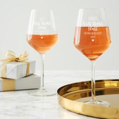 Personalised Girls' Night Wine Glass