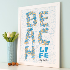 Personalised Beach Life Art