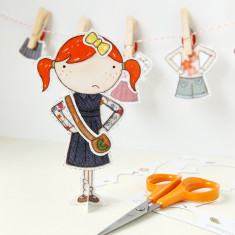 Clara Paper Doll With Signature Outfits