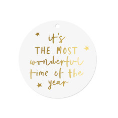 The Most Wonderful Time of the year gift tags (Set of 10)