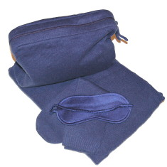 Cashmere travel set in indigo