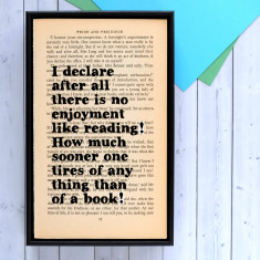 Pride and Prejudice bookworm gift
