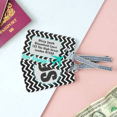 Personalised Monogram Chevron Luggage Tag
