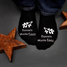 Mistle Toes Christmas Socks