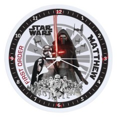 Personalised Star Wars The Force Awakens Clock