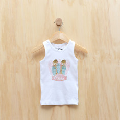 Girls' personalised feathered headdress singlet