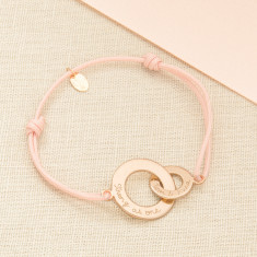 Personalised intertwined bracelet