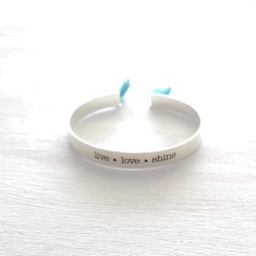 Love Turquoise Cuff Silver