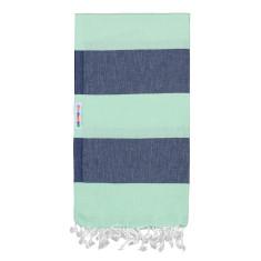 Hammamas Turkish Towels in Bold Mint / Navy
