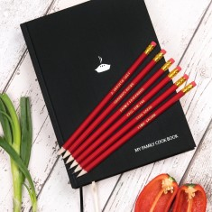 Personalised Family Cookbook with Pencils