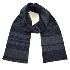 Unisex two tone merino wool scarf