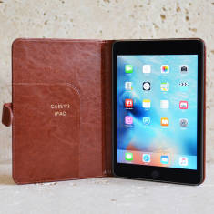 Classic Personalised iPad Mini case in Brown or Black