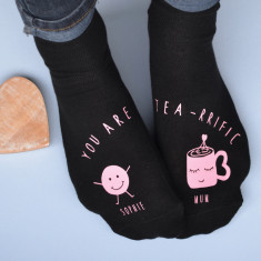 Personalised Tea-Riffic Socks