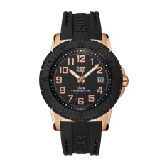 CAT PV-1 series watch in rose gold plated steel with black face