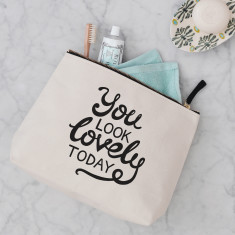 You Look Lovely Today Wash Bag