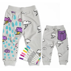 Monster purple pocket pants colouring kit