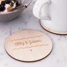Personalised names coasters