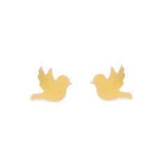Gold tweet tweet earrings
