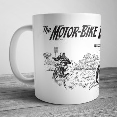 Retro Illustration Mug Motor-Bike Bandit Hunter