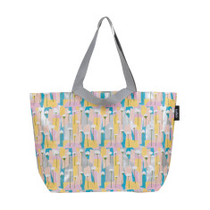 Shopper bag in Pastel Poppies by Leah Bartholemew Print