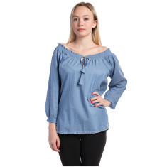 Light cotton shirt in blue