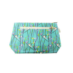 Vine jay sea green cosmetic bag (various sizes)
