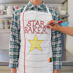 Doodle chef's apron with wash-out pens