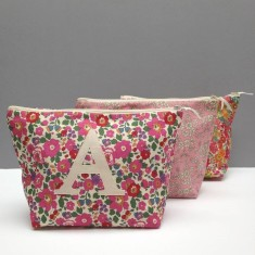 Personalised Liberty print wash bag