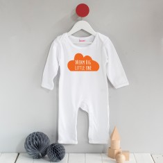Dream big little one cloud long sleeved romper suit