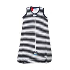 Baby sleeping bag 0.5 tog navy & white stripe