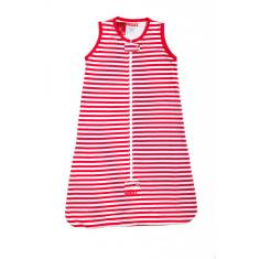 Baby sleeping bag 0.5 tog in red & white stripe