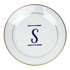 Brush Stroke Initial Jewellery Trinket Dish