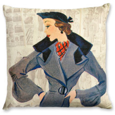 Madame Veronique linen cushion cover