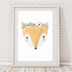 Pretty Fox Watercolour Print