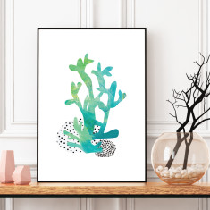 Abstract coral #2 art print (various sizes)