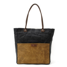 Canvas Waterproof Tote/Shopping Bag Black